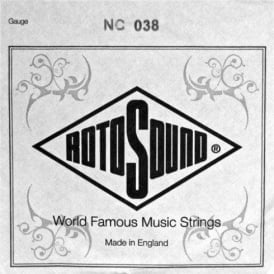 Rotosound NC038 Custom Nickel Wound Electric Guitar Single String .038