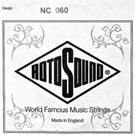Rotosound NC060 Custom Nickel Wound Electric Guitar Single String .060 Gauge