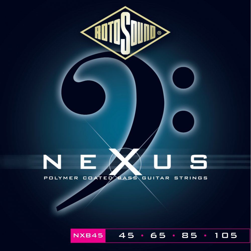 rotosound nxb45 nexus polymer coated roundwound bass guitar strings. Black Bedroom Furniture Sets. Home Design Ideas
