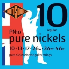 Rotosound PN10 Pure Nickels Electric Guitar Strings 10-46 Gauge