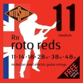 Rotosound R11 Roto Red Nickel Electric Guitar Strings 11-48 Medium