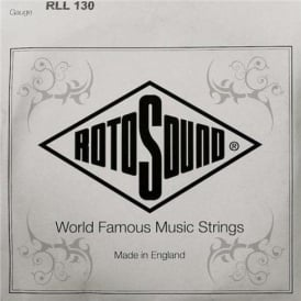 Rotosound RLL130 Solo Bass Stainless Steel Pressure Wound Single String .130 (Low B)