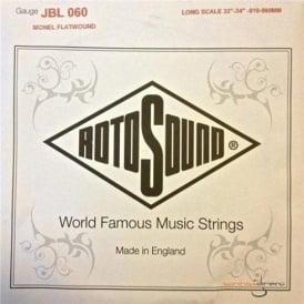 Rotosound JBL060 Flatwound Jazz Bass Guitar Single String .060 Long Scale