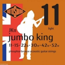 Rotosound JK11 Phosphor Bronze Acoustic Guitar Strings 11-52 Gauge 6-String Set