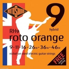 Rotosound RH9 Roto Orange Nickel Electric Guitar Strings 09-46 Hybrid