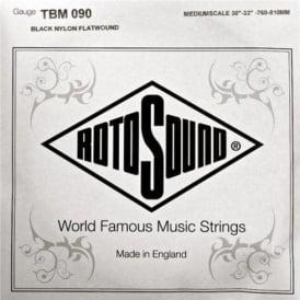 Rotosound TBM090 Tru Bass Black Nylon Flatwound Bass Guitar Single String .090 Medium Scale
