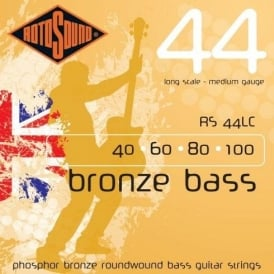 Rotosound RS44LC Bronze Bass Phosphor Bronze Roundwound Bass Guitar Strings 40-100 Long Scale