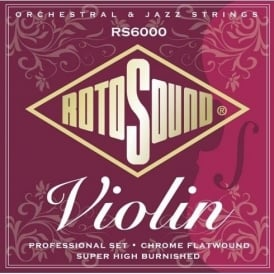 Rotosound RS6000 Chrome Flatwound Violin Strings