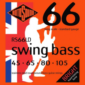 Rotosound RS66LD 4-String Swing Bass Stainless Steel Bass Guitar Strings 45-105 Long Scale