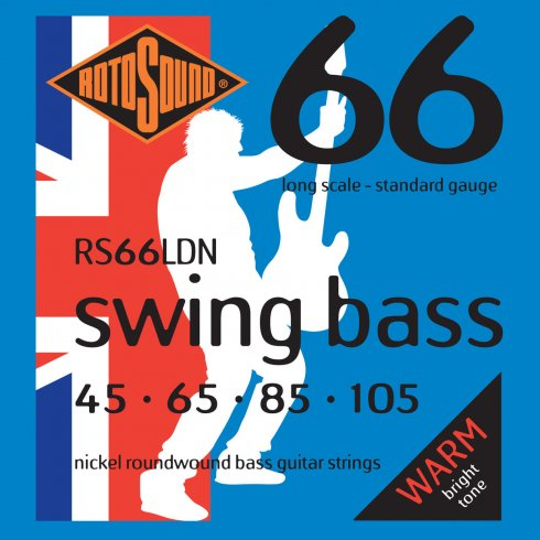 RS66LDN 4-String Swing Bass Nickel Roundwound Bass Guitar Strings 45-105 Long Scale Bass