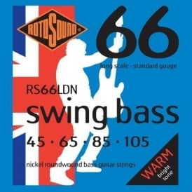 Rotosound RS66LDN 4-String Swing Bass Nickel Roundwound Bass Guitar Strings 45-105 Long Scale Bass