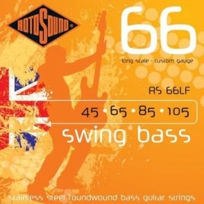 Rotosound RS66LF Swing Bass Stainless Steel Roundwound 45-105 Long Scale
