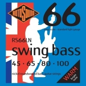 Rotosound RS66LN Swing Bass Nickel Roundwound Bass Guitar Strings 45-100 Long Scale