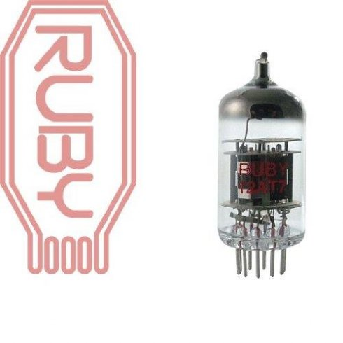 Ruby Tubes Ruby 12AT7/ECC81 China Single Preamp Tube for Guitar Amplifier