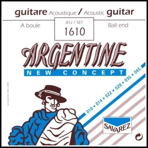 Savarez 1610 Argentine New Concept Ball End Guitar Strings 10-45 Extra Light Tension