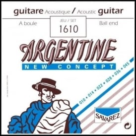 Savarez 1610 Argentine New Concept Ball End Guitar Strings 10-45 Extra Light Tension