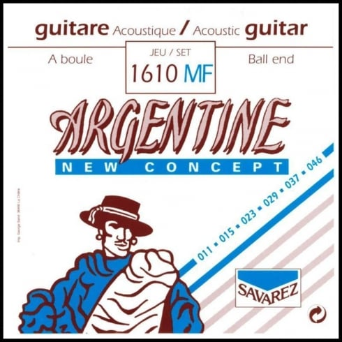 Savarez 1610MF Argentine New Concept Ball End Folk Guitar Strings 11-46 Light Tension