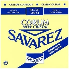Savarez 500CJ New Cristal/Corum High Tension, Full Set Classical Guitar Strings