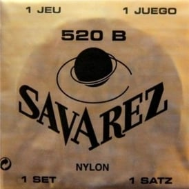 Savarez 520B Whie Card Tradtional Basses with Recified Nylon Trebles Classical Guitar Strings Low Tension