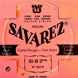 Savarez 522R Red Card Rectified Nylon High Tension Classical Guitar Single String 2-B