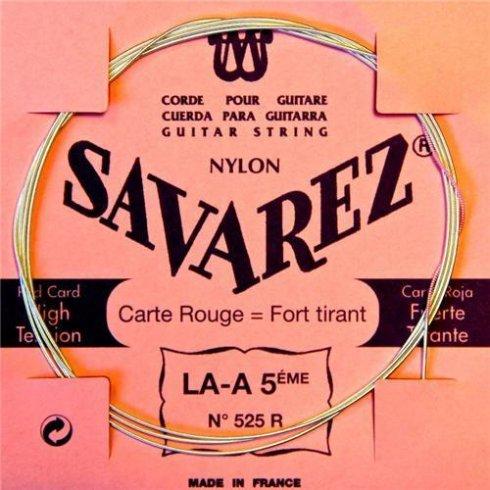 Savarez 525R Red Card Silver Wound High Tension Classical Guitar Single String 5-A