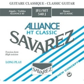 Savarez 540J Alliance HT Clear Nylon High Tension Classical Guitar Strings