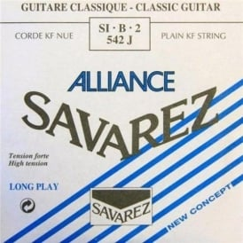 Savarez 542J Alliance HT Clear Nylon High Tension Classical Guitar Single String 2-B