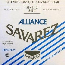 Savarez 542J Alliance HT Clear Nylon High Tension Classical Guitar Single String 2-B