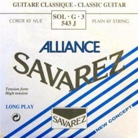 Savarez 543J Alliance HT Clear Nylon High Tension Classical Guitar Single String 3-G
