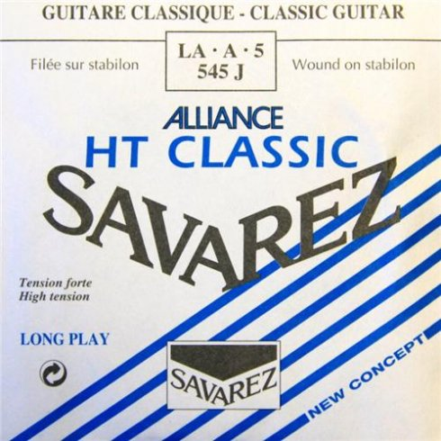 Savarez 545J Alliance HT Silver Wound High Tension Classical Guitar Single String 5-A
