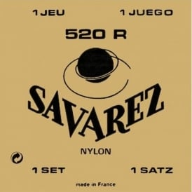 Savarez 520R Red Card Tradtional Basses with Recified Nylon Trebles Classical Guitar Strings High Tension