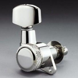 Schaller M6 Locking Machine Heads, Screw Mount, 3-a-Side, Nickel