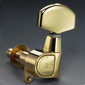 Schaller M6 Machine Heads, Screw Mount, 3-a-Side, Gold