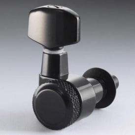 Schaller M6 Right-Handed Locking Machine Heads, Pin Mount, 6-in-Line, Black