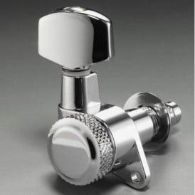 Schaller M6 Right-Handed Locking Machine Heads, Screw Mount, 6-in-Line, Chrome