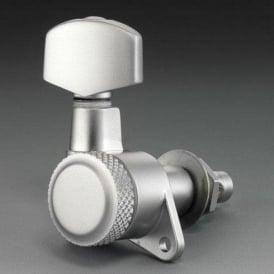 Schaller M6 Right-Handed Locking Machine Heads, Screw Mount, 6-in-Line, Satin Chrome