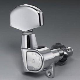 Schaller M6 Right-Handed Machine Heads, Screw Mount, 6-in-Line, Chrome