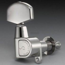 Schaller M6 Right-Handed Machine Heads, Screw Mount, 6-in-Line, Nickel