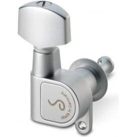 Schaller M6 Right-Handed Machine Heads, Screw Mount, 6-in-Line, Satin Chrome