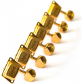 Schaller Right-Handed ST6 Machine Heads, 6-In-Line, Gold