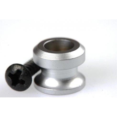 Schaller Satin Chrome Strap Buttons with Screws 2-Pack (for use with Schaller Straplocks)