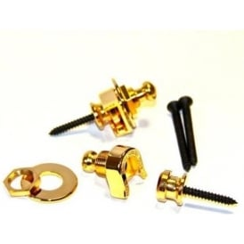 Schaller Security Guitar & Bass Straplocks Set, Gold
