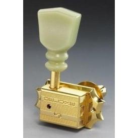 Schaller ST6K Original G-Series Keystone Machine Heads, 3-a-Side, DR Gold