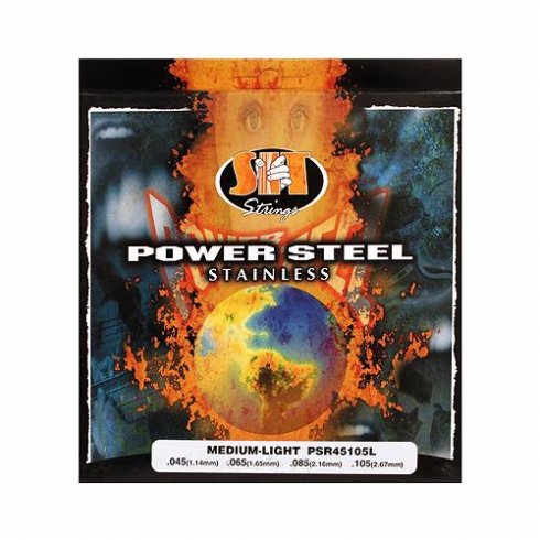 SIT Strings 4-String PSR45105L Power Wound Stainless Steel 45-105 Long Scale Electric Bass Strings