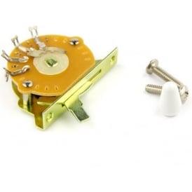 Sonik 3-Way Strat/Tele Selector Switch, White Tip