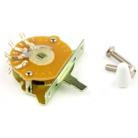 Sonik 5-Way Strat Selector Switch, White Tip