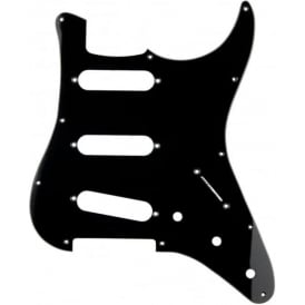 Sonik Stratocaster Pickguard, 1-Ply, Black