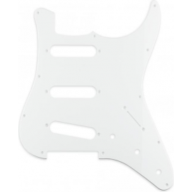 Sonik Stratocaster Pickguard, 1-Ply, White
