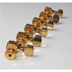 Sperzel Trim-Lok Locking Guitar Machine Heads, 6-in-Line, Gold