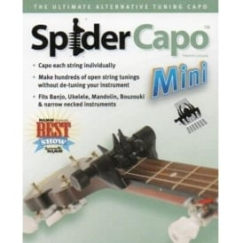 SpiderCapo Mini, Individual Multi-String Capo for Mandolin, Ukulele, Banjo & Bouzouki